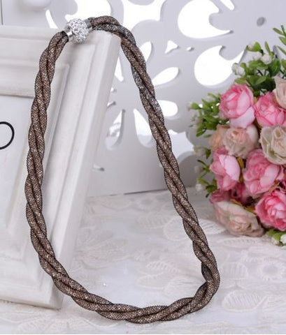 Mesh Chain - Crystal Fashion chokers necklace
