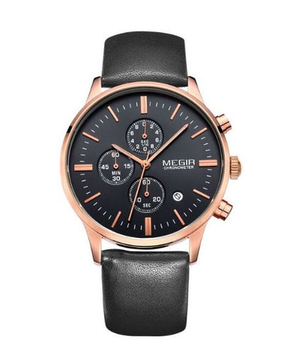 Beautiful Leather strap Megir Chronograph watch
