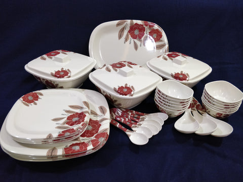 Fortuner Melamine 40 pc Crockery Set