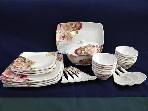 Sharewell Melamine 35+ pc Crockery Set - 6015