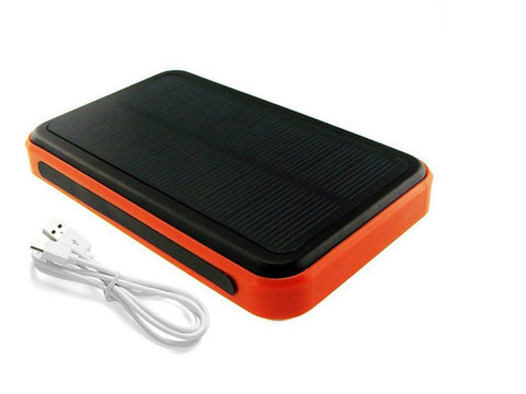 Solar powered power bank: 10000 mah power to charge your mobile phones, PDA's, iPad etc.,