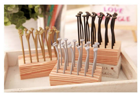 Reusable creative fruit forks