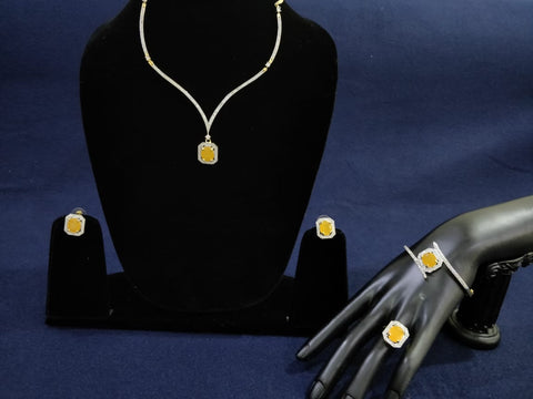 Delicate & Graceful Stone work Half Set Imitation Jewelry by Bijoux Collection