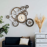 Mural Wheel and Gear Wall Clock