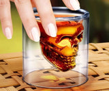 Skull Head 75 ml shot glass (Pack of 2)