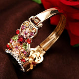 Rhinestone work branded womens wristwatch