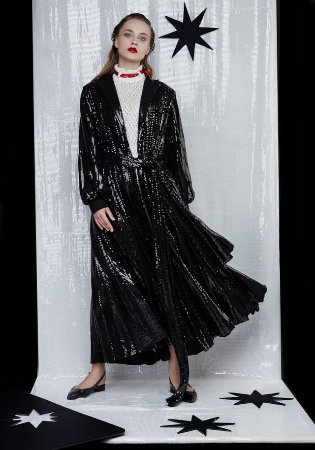 SEQUIN Pleated Trench-ATU Body Couture-clote.ro