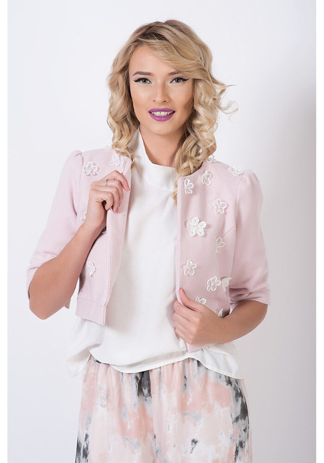 Pink Cherry Short Jacket - clote.ro - 1