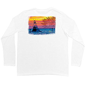 Guy Harvey L/S - Gulf Stream Mens L/S Sun Shirt