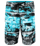 Coral Camo Blue - Turquoise/Black/Coral White