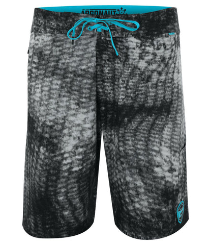 Burnt Reefer - Black and Grey with Turquoise Accents