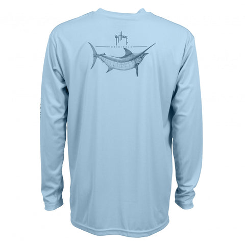 Guy Harvey Sunshirt - Marlin Sketch Sunshirt