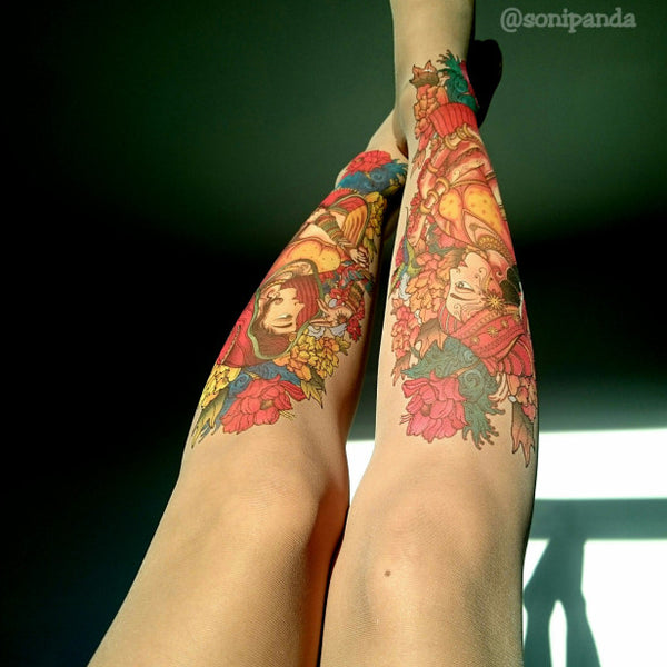 Our collab with hosiery blogger Soni Panda & artist Vik Kainth