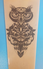 Damask Owl Tattoo Design - Work in Progress