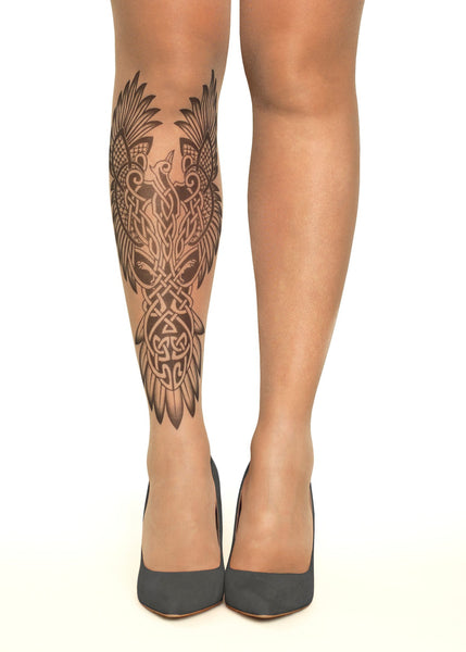 Celtic Phoenix tattoo printed tights & pantyhose