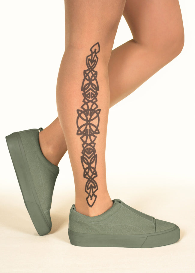 Irish Celtic Design tattoo printed tights & pantyhose