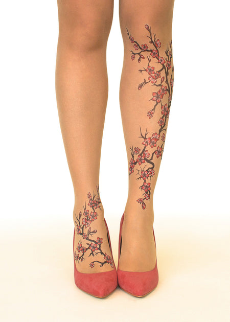 Mermaid Spell Tattoo Sheer Tights