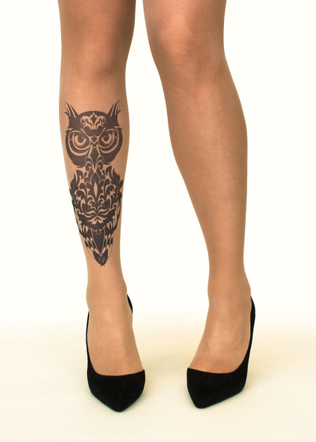 Fire Dragon Tattoo Sheer Tights