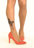 Dripping Paint Butterfly tattoo printed hold-ups, tights & pantyhose