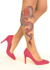 Fire Dragon tattoo printed tights & pantyhose