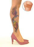 Firebird Phoenix tattoo printed hold-ups, tights & pantyhose