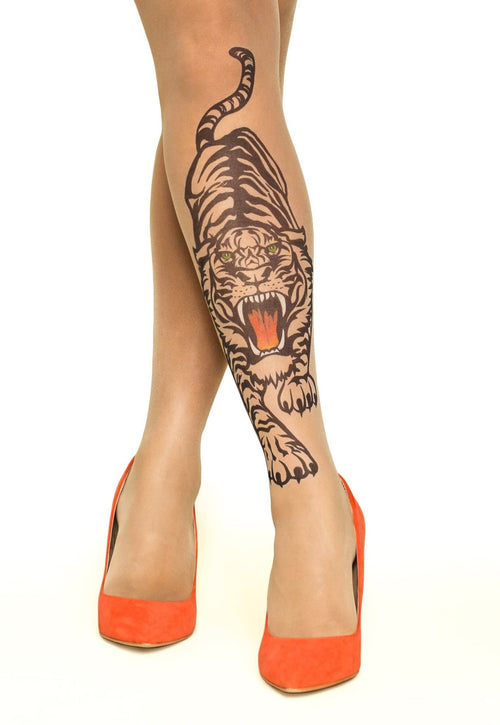 Hear Me Roar tattoo printed tights & pantyhose