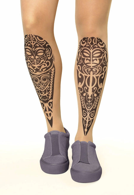 Wolf Dreamcatcher Tattoo Sheer Tights