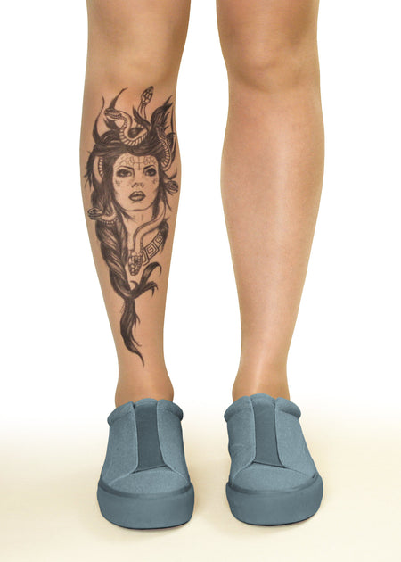 Winged Panther Tattoo Sheer Tights