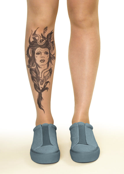 Medusa Head Tattoo Printed Tights & Pantyhose
