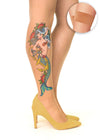 Mermaid Spell tattoo printed hold-ups, tights & pantyhose