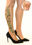 Irish Shamrock Vine tattoo printed hold-ups, tights & pantyhose