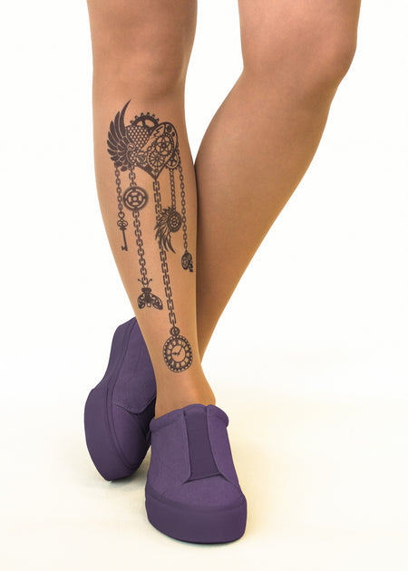 Don't Gamble Tattoo Sheer Tights