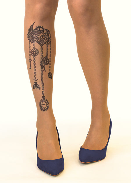 Medusa Head Tattoo Sheer Tights