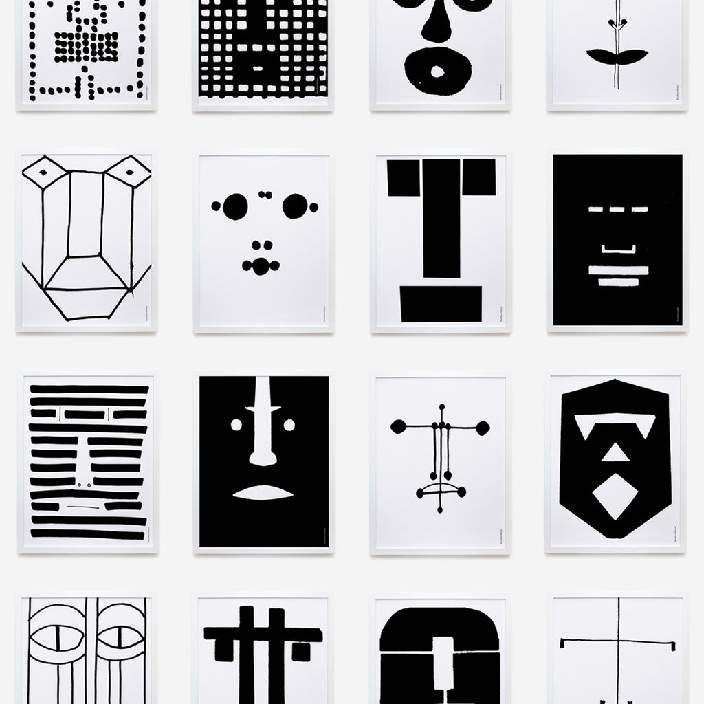 Bruno Munari faces | complete set