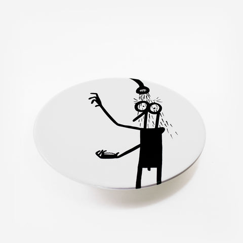 Ceramic plates by Fausto Gilberti | Shower