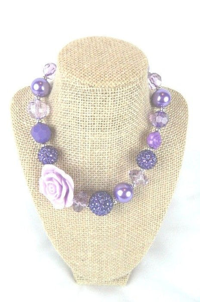 Girls Chunky Beaded Necklace (various styles)