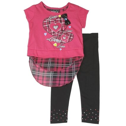 Girls Two Piece Studded Leggings Set