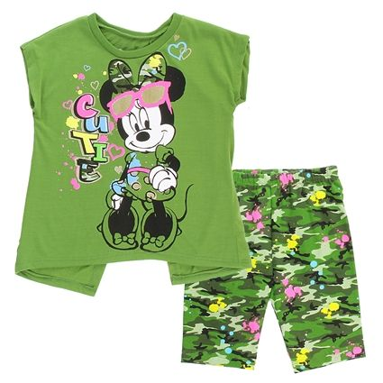 Minnie Mouse Toddler Camouflage Short Set