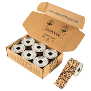 Dynamic Tape - 2in Black Tattoo BOX (6 rolls)