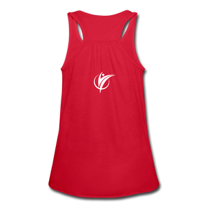 Women's Flowy Tank Top by Bella - red