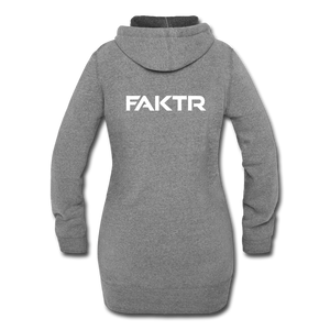 Women's Hoodie Dress - FAKTR - heather gray
