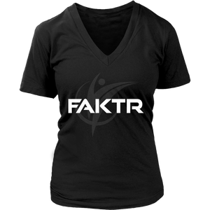 Women's V-Neck FAKTR T-Shirt