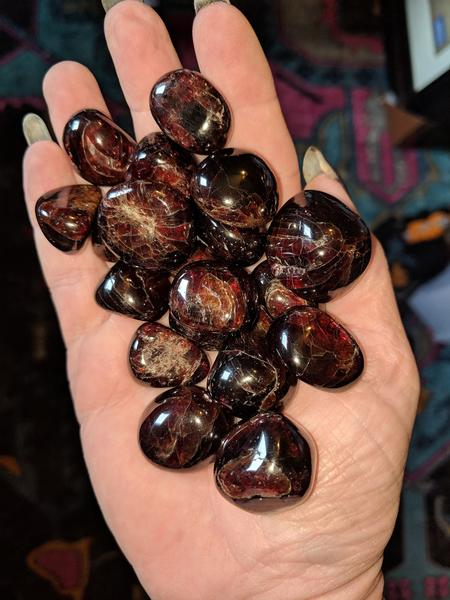 Freeform Polished Almandine Garnet 6 Piece Gridding Set