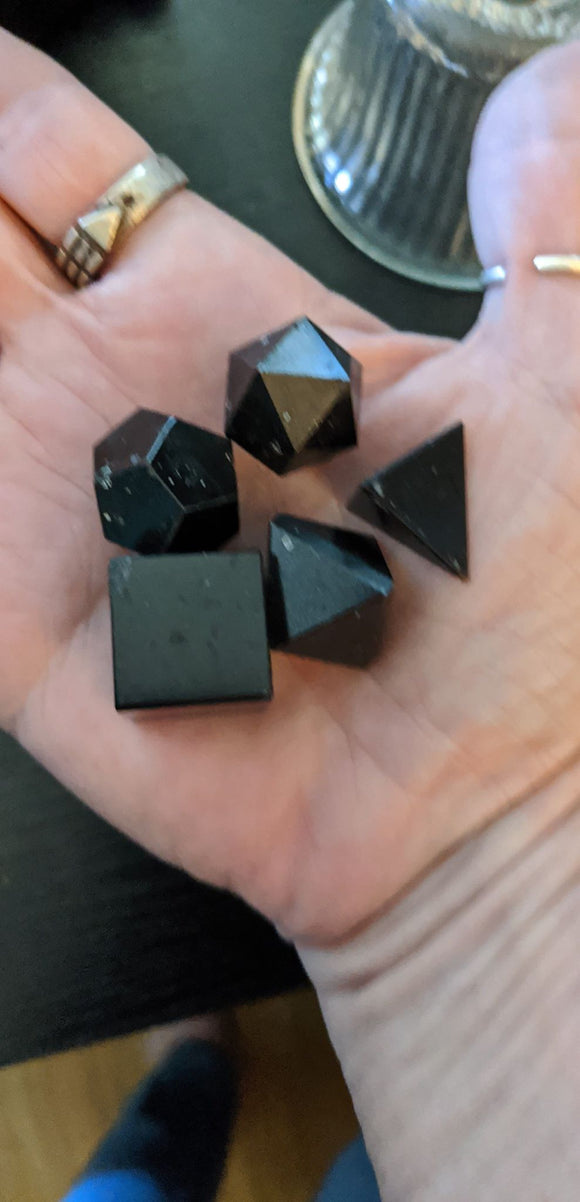 Black Tourmaline Sacred Geometry Sets