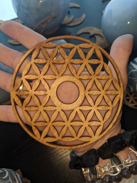 Wooden Flower of Life Stands
