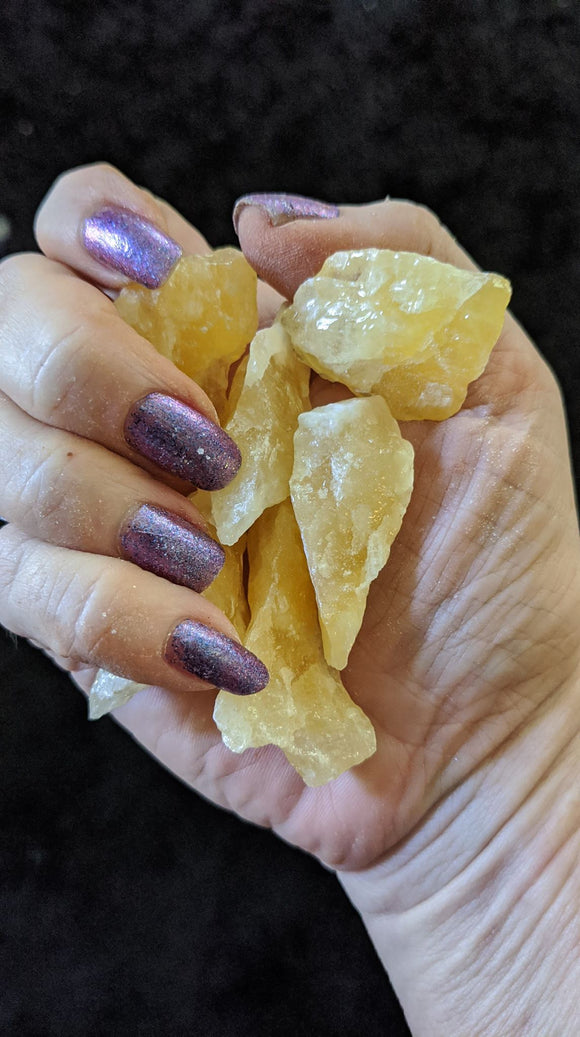 Raw Orange Calcite 6 Piece Gridding Set