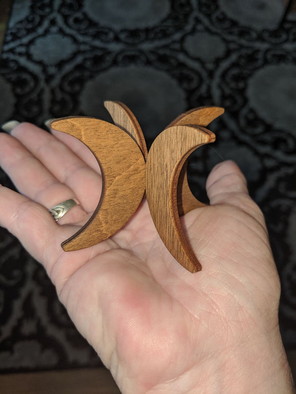 Wooden Quadruple Crescent Moon Stands