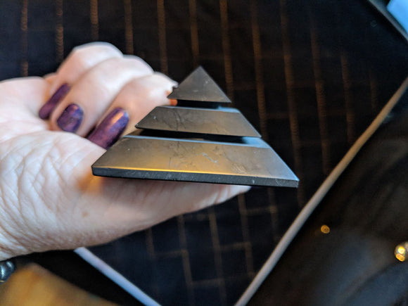 50mm Environmental Shungite Sakkara Pyramids
