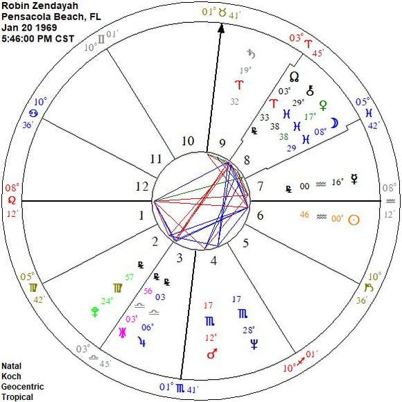 Professional Natal Chart with Interpretations