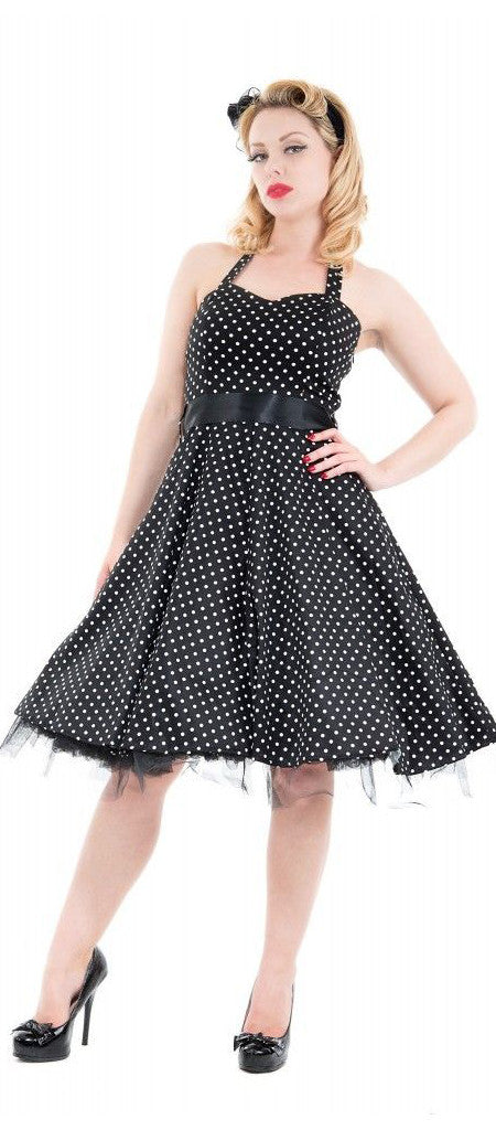H&R Black Polka Dot Dress